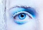 Close-up of fantasy make-up — Stock Photo