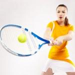 Girl tennis player — Stock Photo