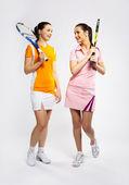Tennis rivals — Stock Photo