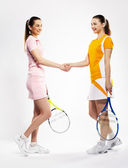 Tennis rivals — Stock Photo