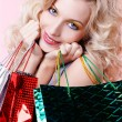 Girl with shopping bags — Stock Photo #4583997