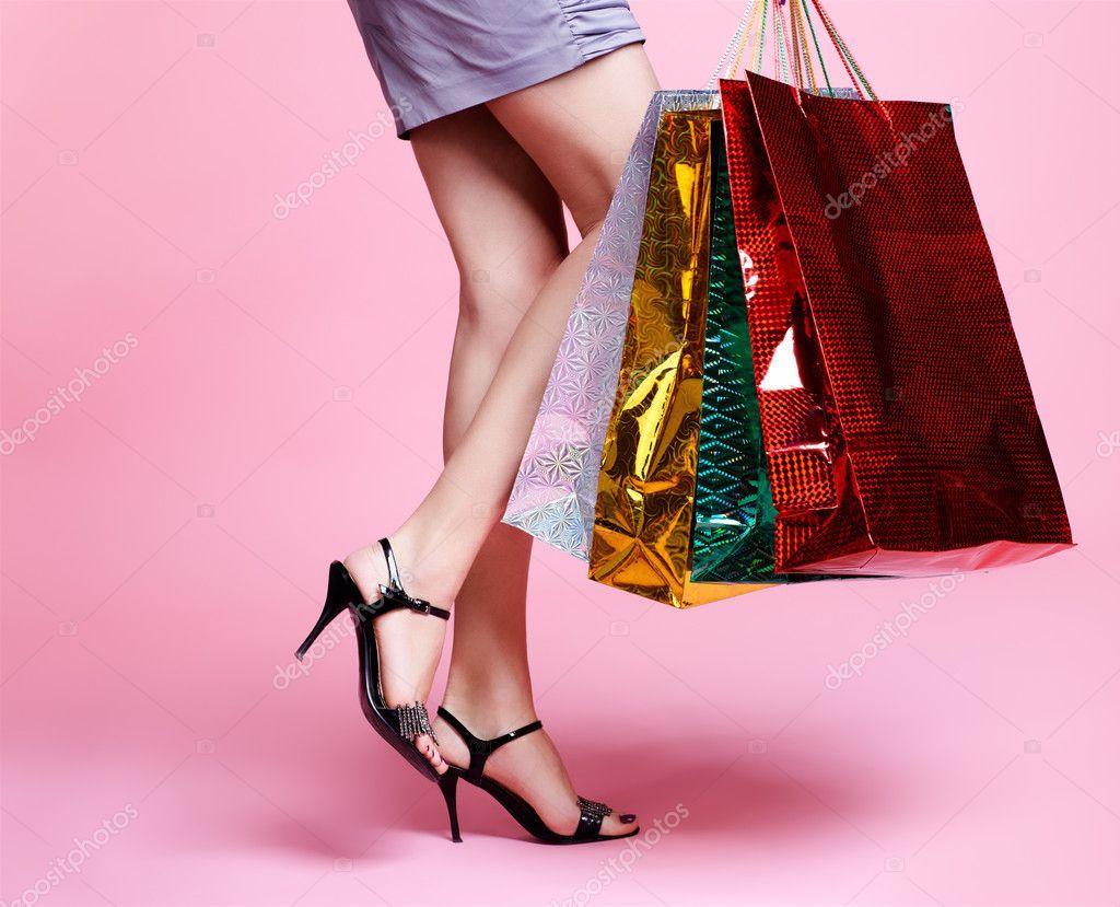 Girl with shopping bags — Stock Photo © zastavkin #4584031