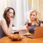 Two girls drinking tea — Stock Photo #4835764