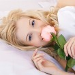 Beautiful girl with rose — Stock Photo #4836712