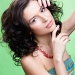 Beautiful curly girl — Stock Photo