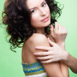 Beautiful curly girl - Stock Photo