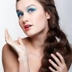 Girl with creative hair-do — Stock Photo #5035407
