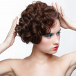 Girl with creative hair-do — Stock Photo