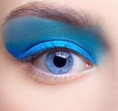 Girl's eye-zone makeup — Stock Photo