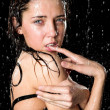 Royalty-Free Stock Photo: Wet girl posing in rain