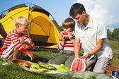 Familie picknick — Stockfoto