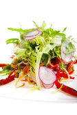 Salad with veal — Stock Photo