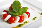 Tomato and cheese — Stock Photo