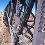 Railroad Bridge over Canyon — Stock Photo