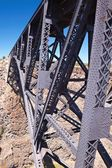 Railroad Bridge over Canyon — Stock Photo