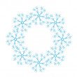 Blue snowflakes on a white background - Image vectorielle