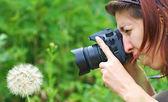 少女-写真家 — ストック写真