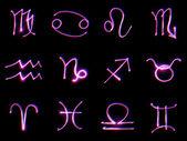 Znaki zodiaku na czarnym — Zdjęcie stockowe