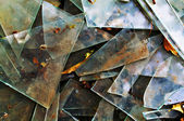 Background with broken glass — Stock Photo
