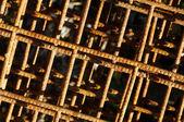 Tło z zardzewiałe siatki — Zdjęcie stockowe