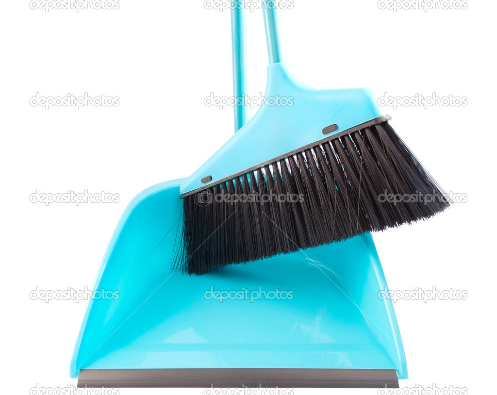 Broom And Dustpan Broom and dustpan - stock