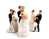 Figurines de gâteau de mariage — Photo