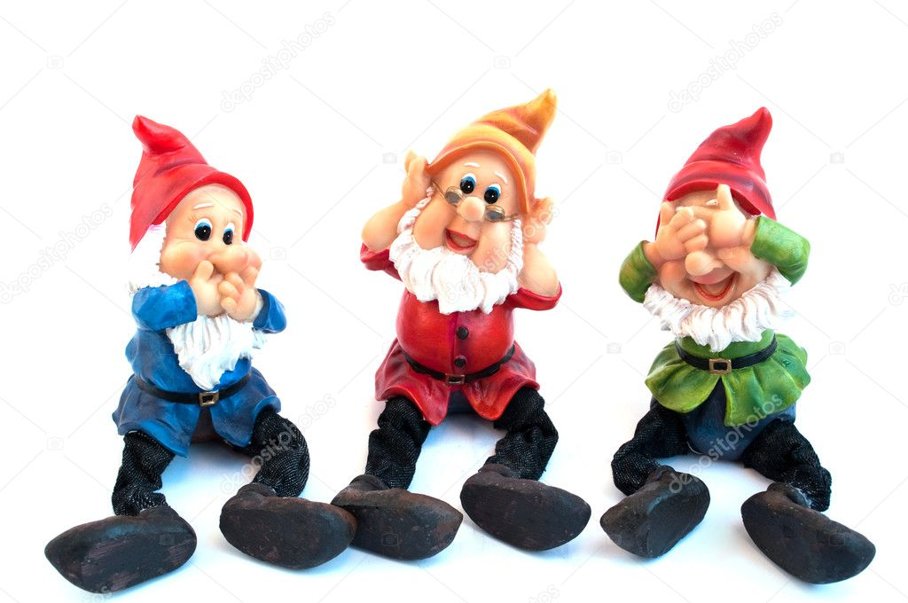 Garden gnome on a white background  Stock Photo #2885138