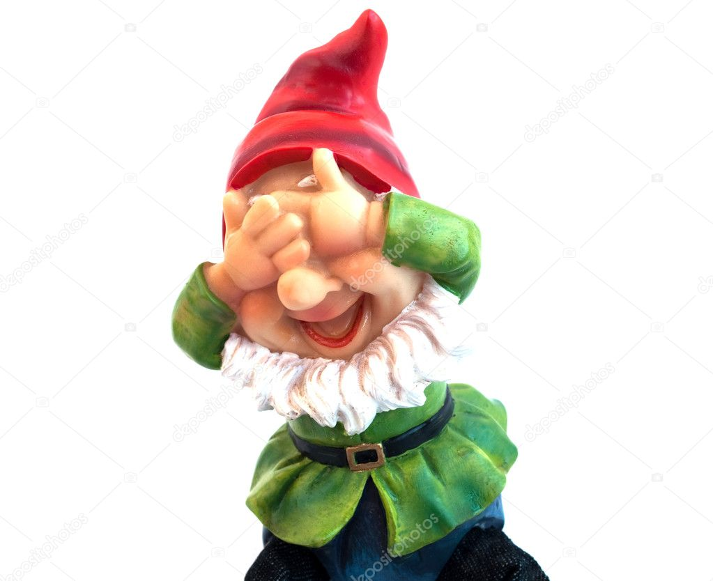 Garden gnome on a white background — Stock Photo #2885164