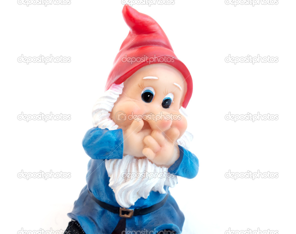 Garden gnome on a white background  Stock Photo #2885175