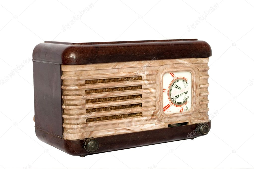 Radio retro on a white background — Stock Photo #3043697
