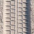 Car tire tracks i — Stock Photo #3523803