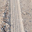 Royalty-Free Stock Photo: Car tire tracks