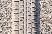 Car tire tracks i — Stock Photo