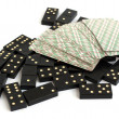 Dominoes and playing cards — Stock Photo #3557634