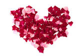 Heart made of roses — Stock Photo