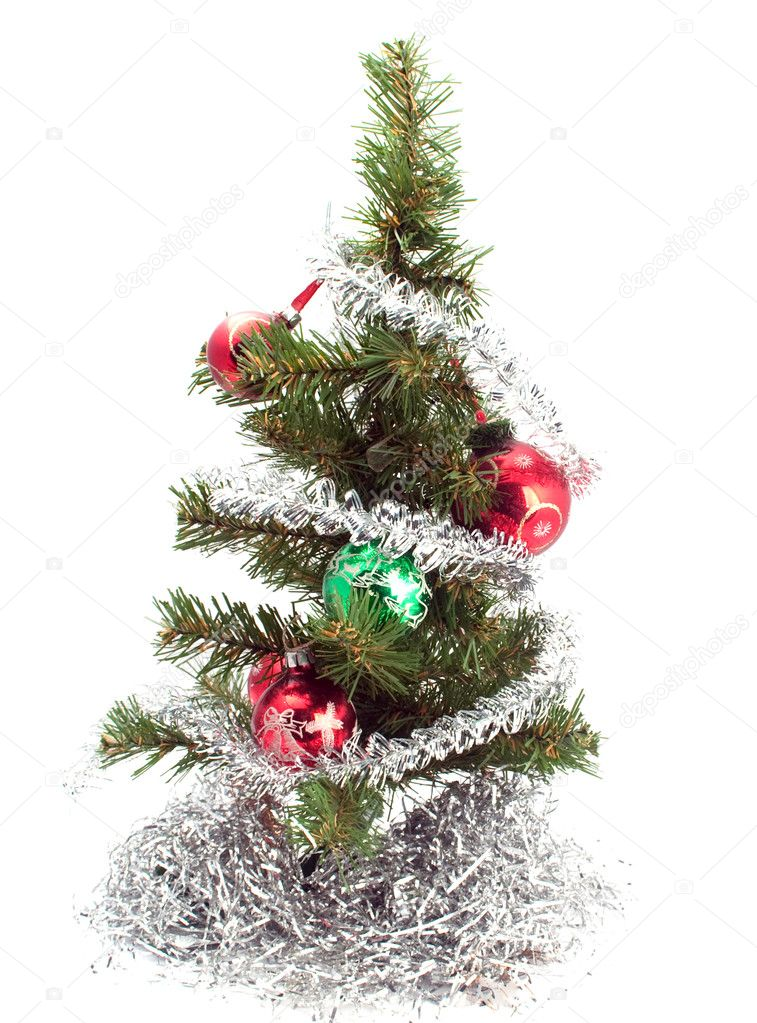 Christmas tree on a white background — Stock Photo #3747781