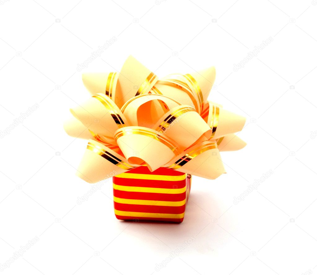 Gift on white background  Stock Photo #3787844