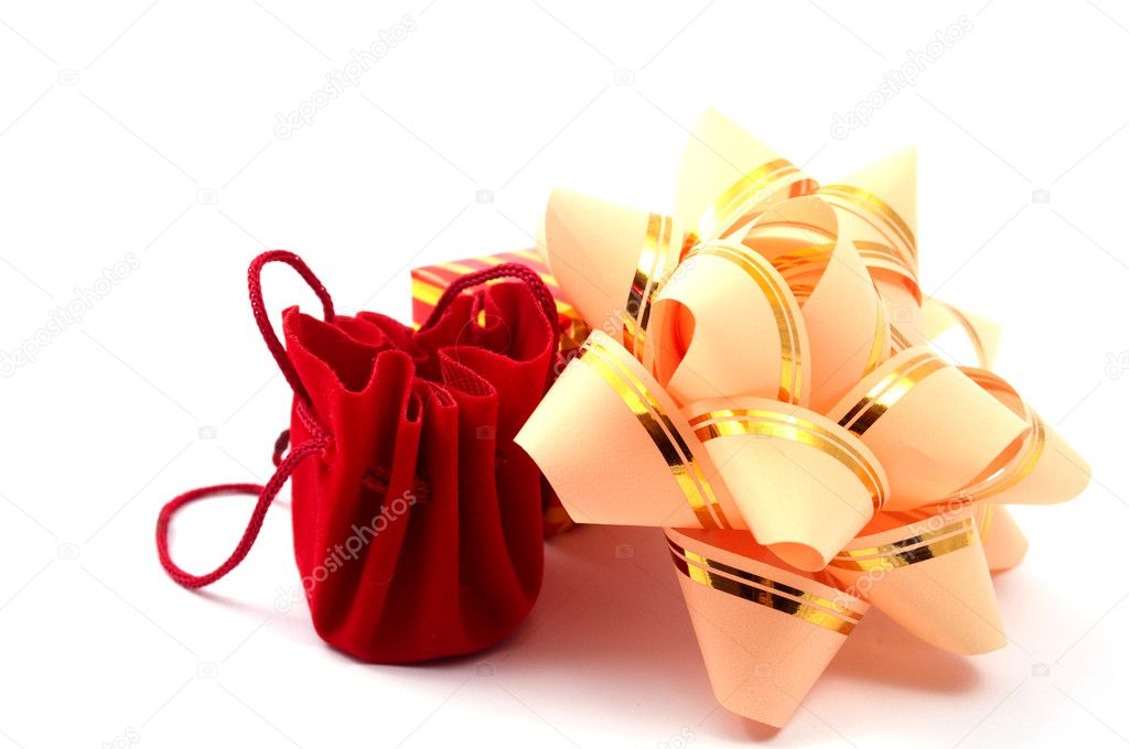 Gift on white background  Stock Photo #3787860