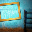 Stock Photo: Blue rusty vintage background