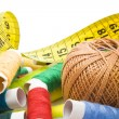 Thread with measuring tape — Stock Photo