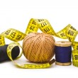 Stock Photo: Thread with measuring tape