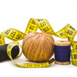 Thread with measuring tape - Foto Stock