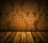 Intérieur vintage brun — Photo
