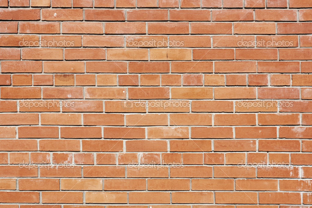 Red vintage brick wall background  Stock Photo #2914668
