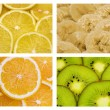 Tropical fruit background — Stock Photo