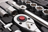Kit of metallic tools — Stock Photo
