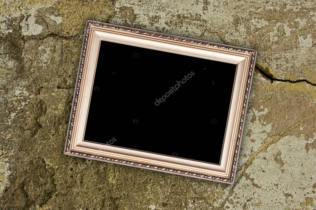 Empty frame on rusty cracked concrete background — Stock Photo #3265341