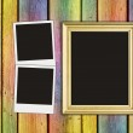 Blank photos and frame — Stock Photo