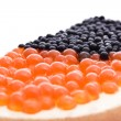 Sandwich with caviar - Stock Photo