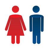 Man woman icon — Stock Vector